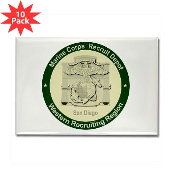 MCRDSD - M01 - 01 - Marine Corps Recruit Depot San Diego - Rectangle Magnet (10 pack)
