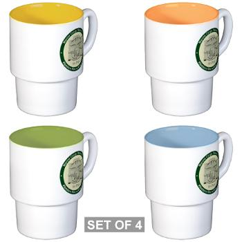 MCRDSD - M01 - 03 - Marine Corps Recruit Depot San Diego - Stackable Mug Set (4 mugs)