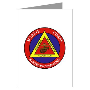 Marine Corps Systems Command - Greeting Cards (Pk of 20)