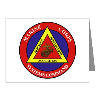 Marine Corps Systems Command - Note Cards (Pk of 20)