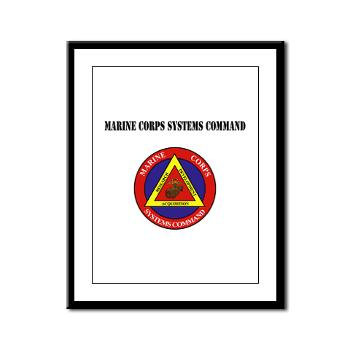 Marine Corps Systems Command With Text - Framed Panel Print