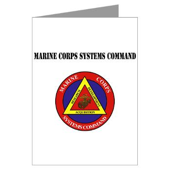 Marine Corps Systems Command With Text - Greeting Cards (Pk of 20)