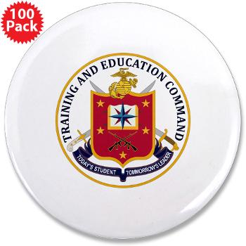"MCTEC - M01 - 01 - Marine Corps Training and Education Command - 3.5"" Button (100 pack)"