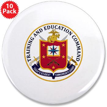 "MCTEC - M01 - 01 - Marine Corps Training and Education Command - 3.5"" Button (10 pack)"