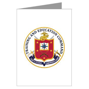 MCTEC - M01 - 02 - Marine Corps Training and Education Command - Greeting Cards (Pk of 20)