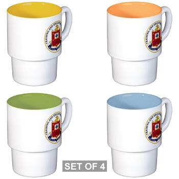 MCTEC - M01 - 03 - Marine Corps Training and Education Command - Stackable Mug Set (4 mugs)