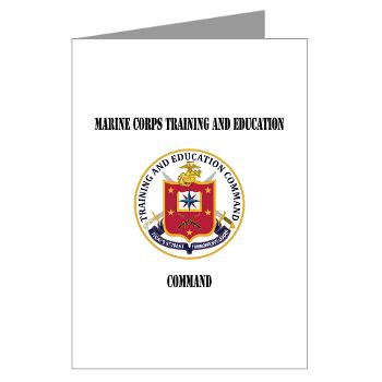 MCTEC - M01 - 02 - Marine Corps Training and Education Command with Text - Greeting Cards (Pk of 20)