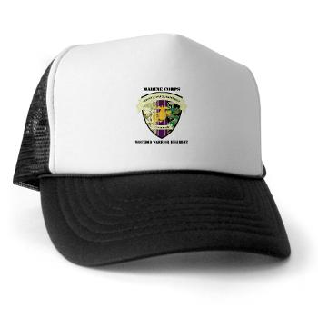 MCWWR - A01 - 02 - Marine Corps Wounded Warrior Regiment with Text - Trucker Hat