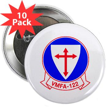 "MFAS122 - M01 - 01 - Marine Fighter Attack Squadron 122 - 2.25"" Button (10 pack)"