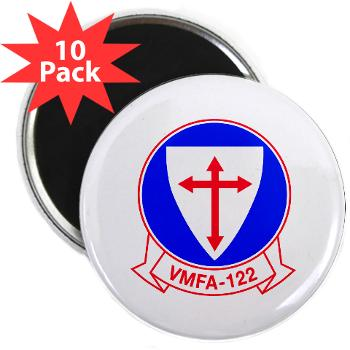 "MFAS122 - M01 - 01 - Marine Fighter Attack Squadron 122 - 2.25"" Magnet (10 pack)"