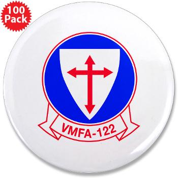 "MFAS122 - M01 - 01 - Marine Fighter Attack Squadron 122 - 3.5"" Button (100 pack)"