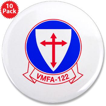 "MFAS122 - M01 - 01 - Marine Fighter Attack Squadron 122 - 3.5"" Button (10 pack)"
