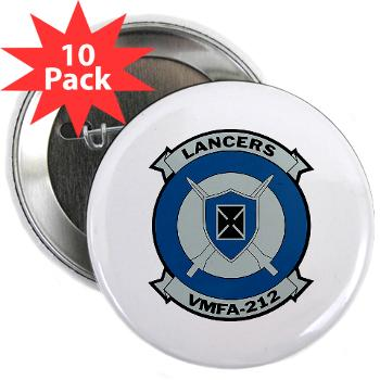 "MFAS212 - A01 - 01 - Marine Fighter Attack Squadron 212 - 2.25"" Button (10 pack)"