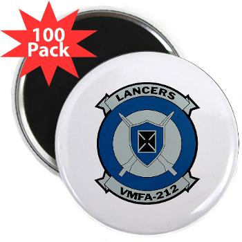 "MFAS212 - A01 - 01 - Marine Fighter Attack Squadron 212 - 2.25"" Magnet (100 pack)"