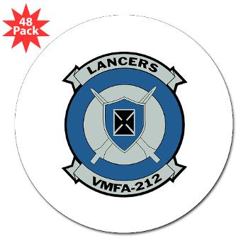 "MFAS212 - A01 - 01 - Marine Fighter Attack Squadron 212 - 3"" Lapel Sticker (48 pk)"
