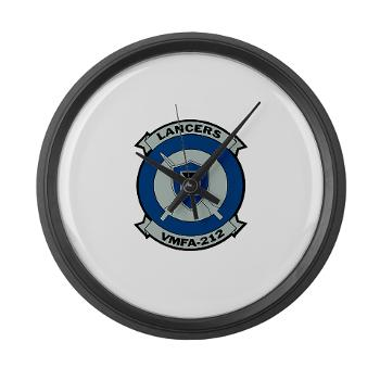 MFAS212 - A01 - 01 - Marine Fighter Attack Squadron 212 - Large Wall Clock