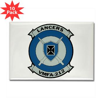 MFAS212 - A01 - 01 - Marine Fighter Attack Squadron 212 - Rectangle Magnet (10 pack)