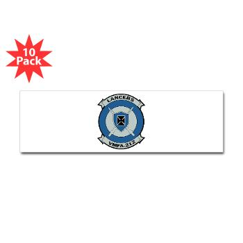 MFAS212 - A01 - 01 - Marine Fighter Attack Squadron 212 - Sticker (Bumper 10 pk)