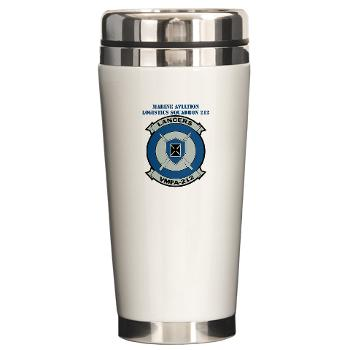 MFAS212 - A01 - 01 - Marine Fighter Attack Squadron 212 with Text - Ceramic Travel Mug