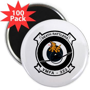 "MFAS323 - M01 - 01 - Marine F/A Squadron 323(F/A-18C) - 2.25"" Magnet (100 pack)"
