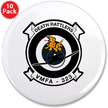 "MFAS323 - M01 - 01 - Marine F/A Squadron 323(F/A-18C) - 3.5"" Button (10 pack)"