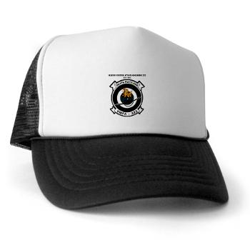 MFAS323 - A01 - 02 - Marine F/A Squadron 323(F/A-18C) with Text - Trucker Hat