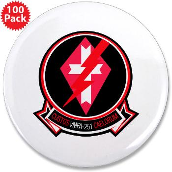 "MFAS251 - M01 - 01 - Marine Fighter Attack Squadron 251 (VMFA-251) - 3.5"" Button (100 pack)"