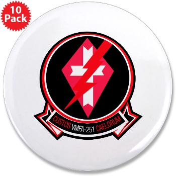 "MFAS251 - M01 - 01 - Marine Fighter Attack Squadron 251 (VMFA-251) - 3.5"" Button (10 pack)"