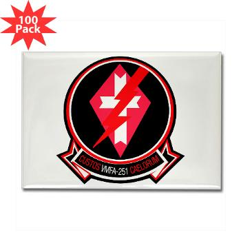 MFAS251 - M01 - 01 - Marine Fighter Attack Squadron 251 (VMFA-251) - Rectangle Magnet (100 pack)