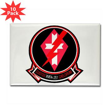 MFAS251 - M01 - 01 - Marine Fighter Attack Squadron 251 (VMFA-251) - Rectangle Magnet (10 pack)