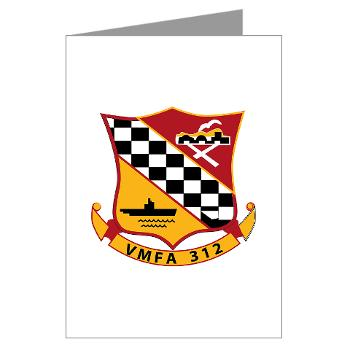 MFAS312 - A01 - 01 - USMC - Marine Fighter Attack Squadron 312 (VMFA-312) - Greeting Cards (Pk of 10)