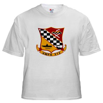 MFAS312 - A01 - 01 - USMC - Marine Fighter Attack Squadron 312 (VMFA-312) - White T-Shirt