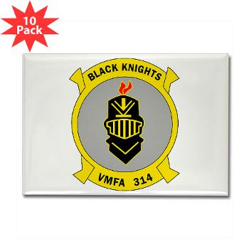 MFAS314 - M01 - 01 - Marine F/A Squadron 314(F/A-18C) Rectangle Magnet (10 pack)