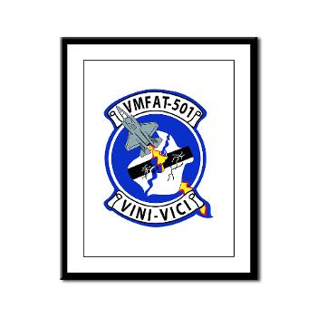 MFATS501 - A01 - 01 - USMC - Marine Fighter Attack Training Squadron 501 (VMFAT-501) - Framed Panel Print