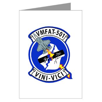 MFATS501 - A01 - 01 - USMC - Marine Fighter Attack Training Squadron 501 (VMFAT-501) - Greeting Cards (Pk of 10)