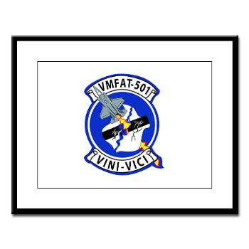 MFATS501 - A01 - 01 - USMC - Marine Fighter Attack Training Squadron 501 (VMFAT-501) - Large Framed Print