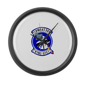 MFATS501 - A01 - 01 - USMC - Marine Fighter Attack Training Squadron 501 (VMFAT-501) - Large Wall Clock