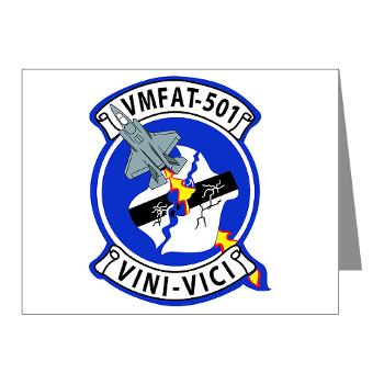 MFATS501 - A01 - 01 - USMC - Marine Fighter Attack Training Squadron 501 (VMFAT-501) - Note Cards (Pk of 20)