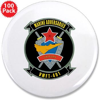 "MFTS401 - M01 - 01 - Marine Fighter Training Squadron - 401 - 3.5"" Button (100 pack)"