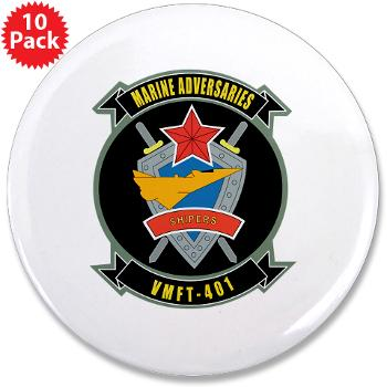 "MFTS401 - M01 - 01 - Marine Fighter Training Squadron - 401 - 3.5"" Button (10 pack)"