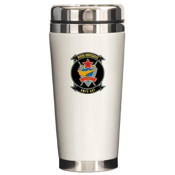 MFTS401 - M01 - 03 - Marine Fighter Training Squadron - 401 - Ceramic Travel Mug