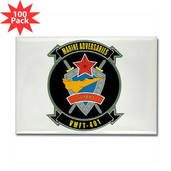 MFTS401 - M01 - 01 - Marine Fighter Training Squadron - 401 - Rectangle Magnet (100 pack)