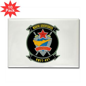 MFTS401 - M01 - 01 - Marine Fighter Training Squadron - 401 - Rectangle Magnet (10 pack)