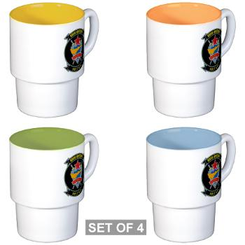 MFTS401 - M01 - 03 - Marine Fighter Training Squadron - 401 - Stackable Mug Set (4 mugs)