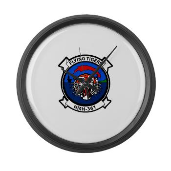 MHHS361 - M01 - 03 - Marine Heavy Helicopter Squadron 361 Large Wall Clock