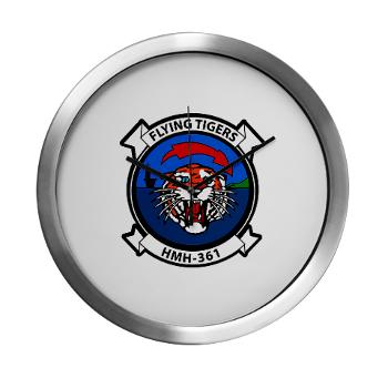 MHHS361 - M01 - 03 - Marine Heavy Helicopter Squadron 361 Modern Wall Clock