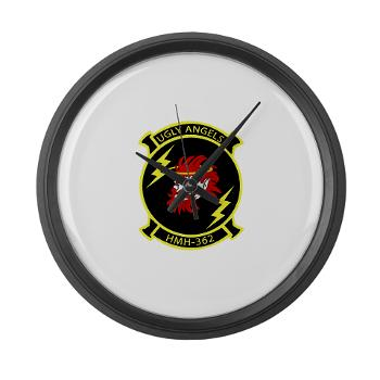 MHHS362 - M01 - 03 - Marine Heavy Helicopter Squadron 362 Large Wall Clock
