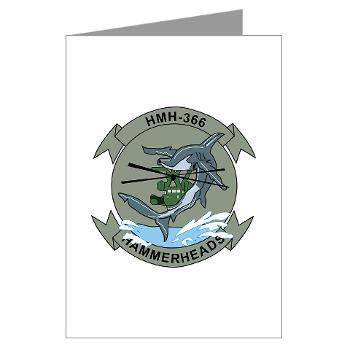 MHHS366 - M01 - 02 - Marine Heavy Helicopter Squadron 366 (HMH-366) Greeting Cards (Pk of 20)