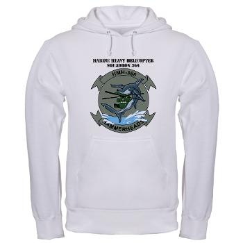 MHHS366 - A01 - 03 - Marine Heavy Helicopter Squadron 366 (HMH-366) with Text Hooded Sweatshirt