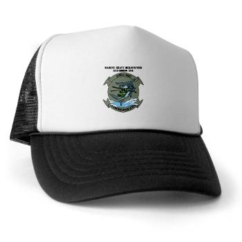 MHHS366 - A01 - 02 - Marine Heavy Helicopter Squadron 366 (HMH-366) with Text Trucker Hat